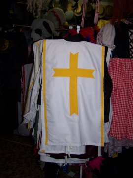 Medieval Boys Knights - tabbard with yellow cross